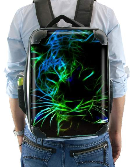 Abstract neon Leopard for Backpack