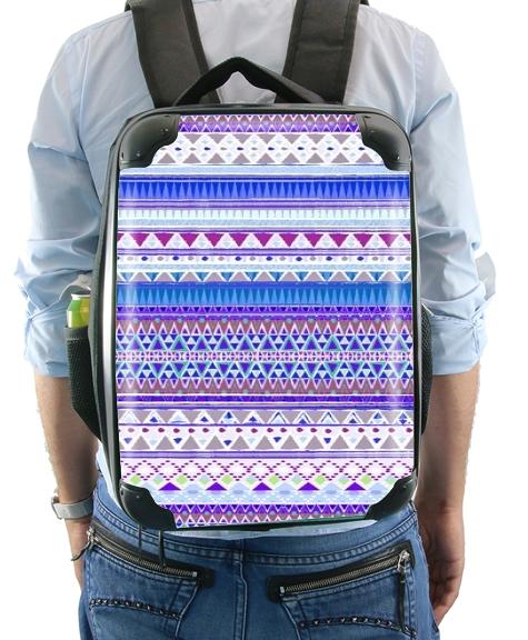 ton dos Aztec Sac et violet à Tribal bleu vIgqfq