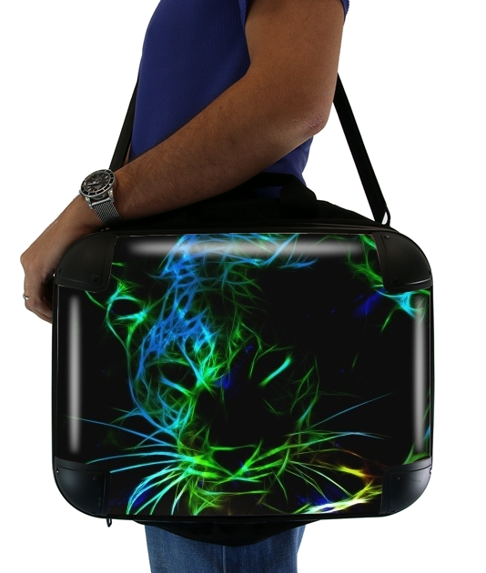 Abstract neon Leopard für Computertasche / Notebook / Tablet