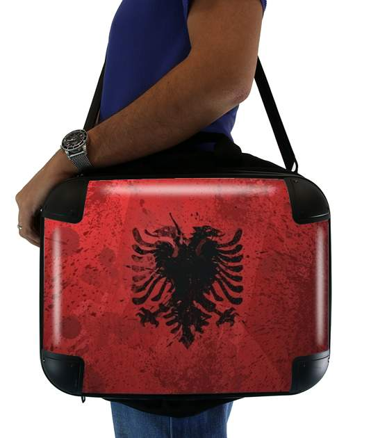"""Albanie Painting Flag for Laptop briefcase 15"""" / Notebook / Tablet"""