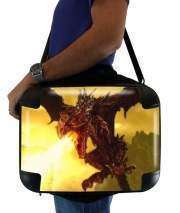 "Sacoche Ordinateur 15"" pour Aldouin Fire A dragon is born"