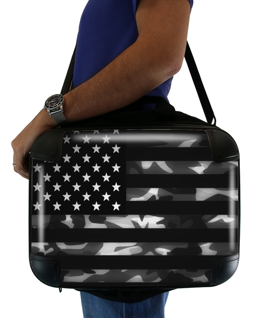 """American Camouflage for Laptop briefcase 15"""" / Notebook / Tablet"""