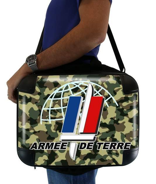 """Armee de terre - French Army for Laptop briefcase 15"""" / Notebook / Tablet"""