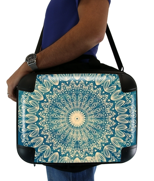 BLUE ORGANIC BOHO MANDALA für Computertasche / Notebook / Tablet