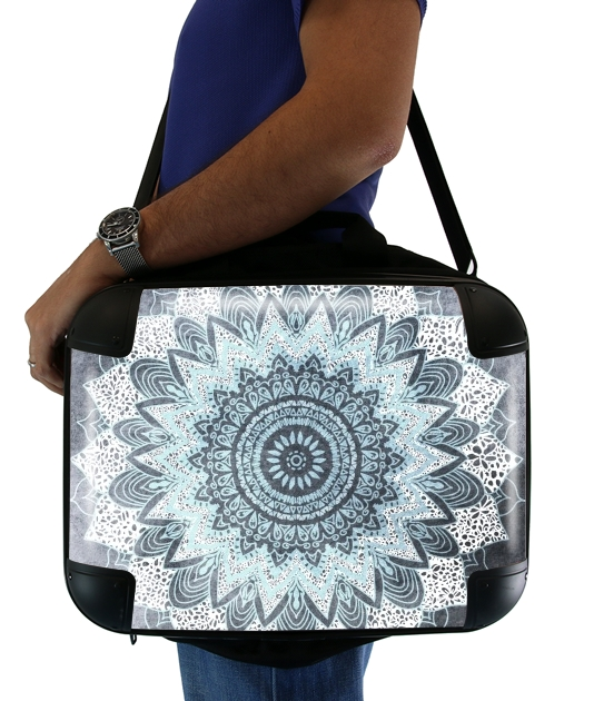 BOHOCHIC MANDALA IN BLUE für Computertasche / Notebook / Tablet