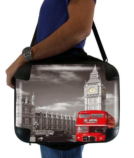 Vor London roter Bus für Computertasche / Notebook / Tablet
