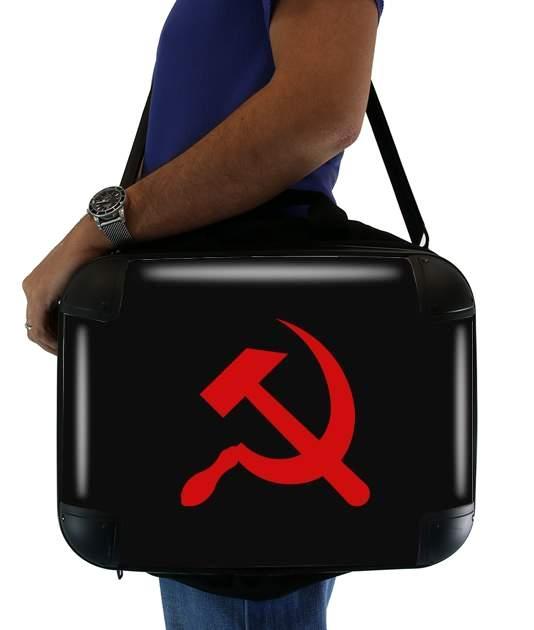 "Communist sickle and hammer for Laptop briefcase 15"" / Notebook / Tablet"