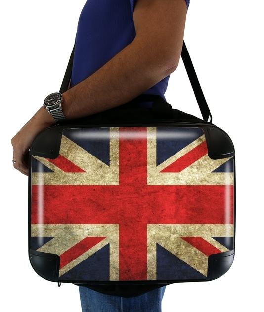 Old-looking British flag voor Laptoptas