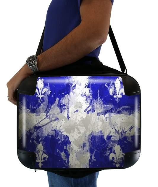 """Drapeau Quebec Peinture for Laptop briefcase 15"""" / Notebook / Tablet"""