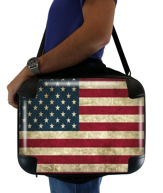 Vintage Flagge USA für Computertasche / Notebook / Tablet