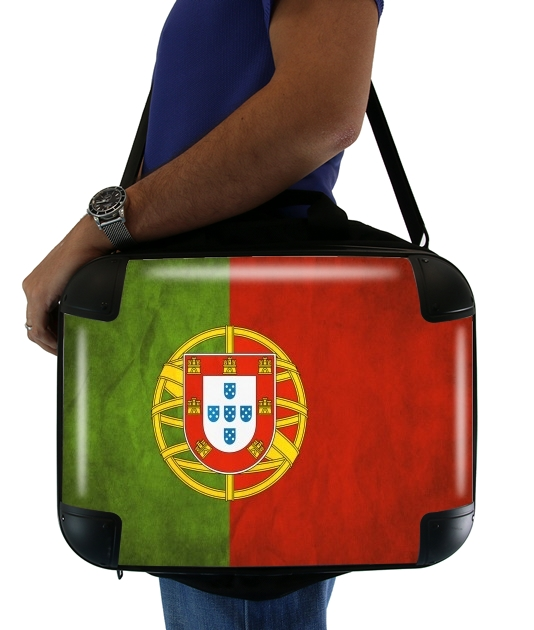 sacoche ordinateur Drapeau Vintage Portugal