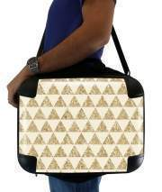 "Sacoche Ordinateur 15"" pour GLITTER TRIANGLES IN GOLD"