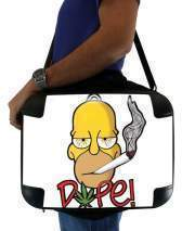 "Sacoche Ordinateur 15"" pour Homer Dope Weed Smoking Cannabis"