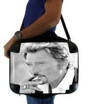 "Sacoche Ordinateur 15"" pour johnny hallyday Smoke Cigare Hommage"