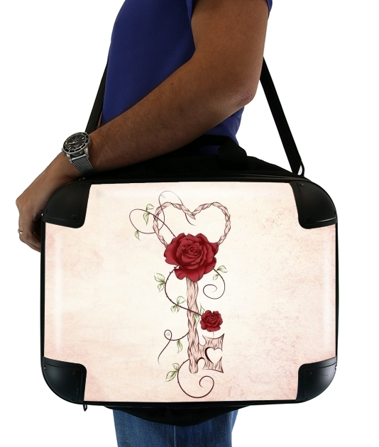 "Key Of Love for Laptop briefcase 15"" / Notebook / Tablet"