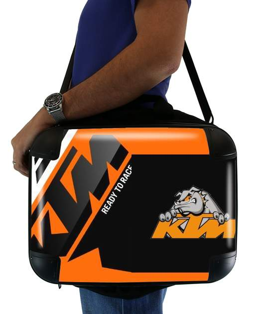 KTM Racing Orange And Black für Computertasche / Notebook / Tablet