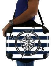 "Sacoche Ordinateur 15"" pour Navy Striped Nautica"