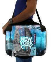 "Sacoche Ordinateur 15"" pour New York City II [blue]"
