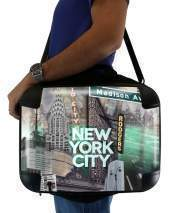 "Sacoche Ordinateur 15"" pour New York City II [green]"
