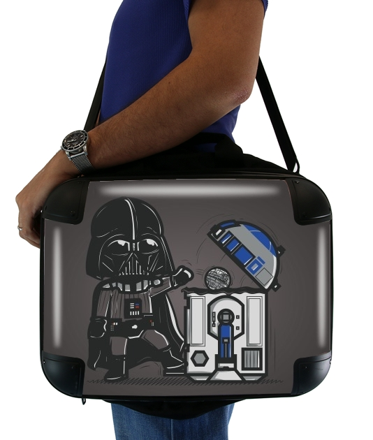 "Robotic Trashcan for Laptop briefcase 15"" / Notebook / Tablet"