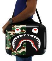 "Sacoche Ordinateur 15"" pour Shark Bape Camo Military Bicolor"