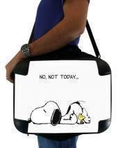 "Sacoche Ordinateur 15"" pour Snoopy No Not Today"