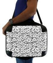 "Sacoche Ordinateur 15"" pour toon skulls, black and white"