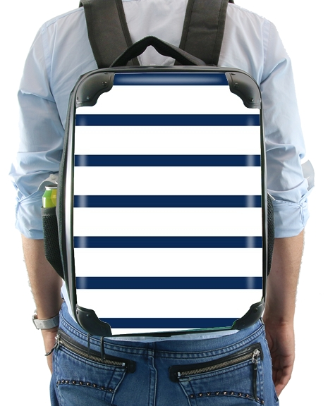 Marinière Blue / White for Backpack