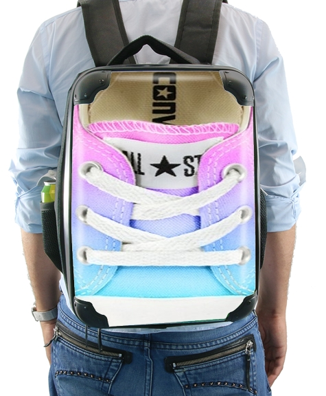 All Star Basket shoes rainbow für Rucksack