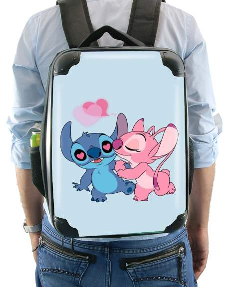Stitch Angel Love Heart pink for Backpack