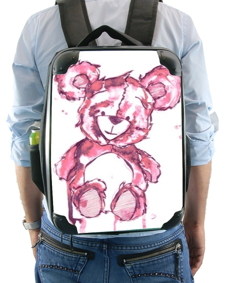 Pink Teddy Bear for Backpack