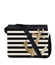 Sac bandoulière - besace pour gold glitter anchor in black
