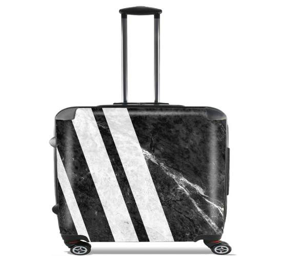 Black Striped Marble voor Pilotenkoffer