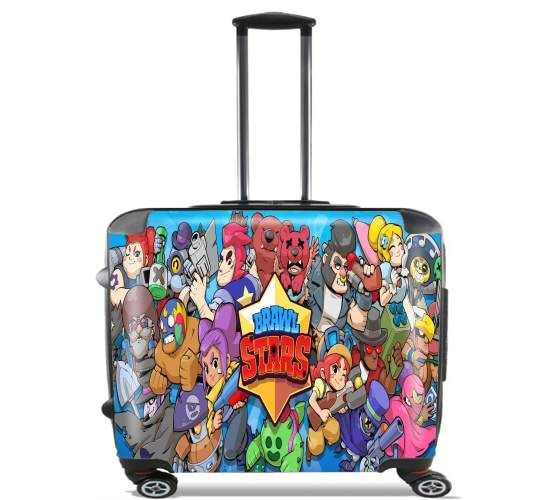 "Brawl stars for Wheeled bag cabin luggage suitcase trolley 17"" laptop"