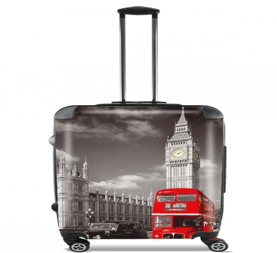 Red bus of London with Big Ben voor Pilotenkoffer