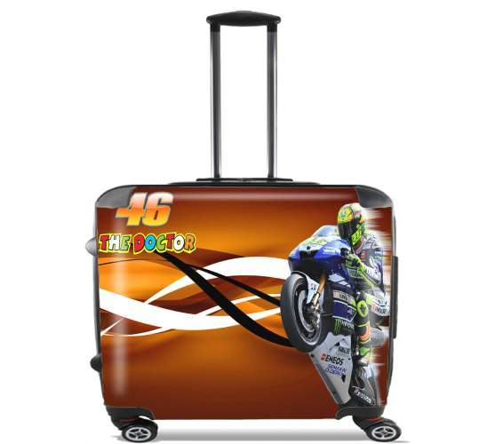 """Fan VR46 Doctors for Wheeled bag cabin luggage suitcase trolley 17"""" laptop"""