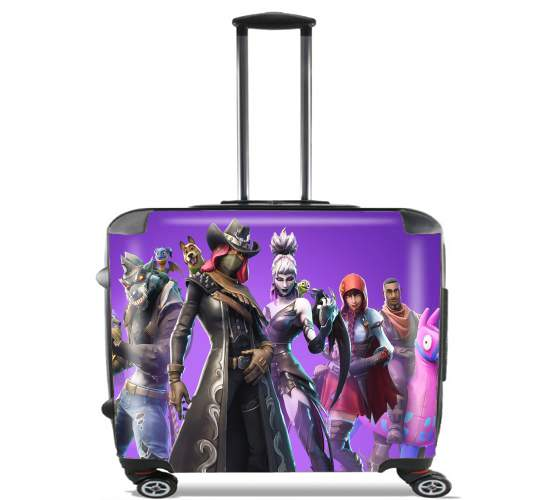 "fortnite Season 6 Pet Companions for Wheeled bag cabin luggage suitcase trolley 17"" laptop"