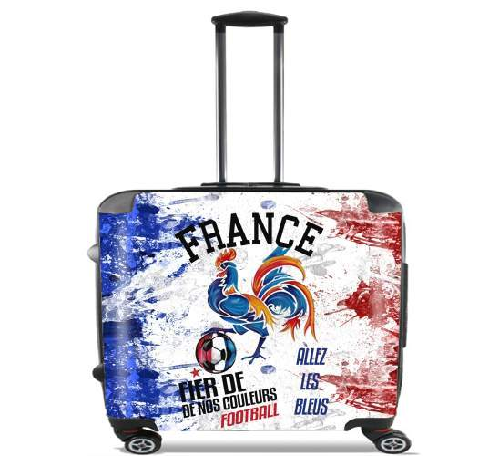 France Football Coq Sportif Fier de nos couleurs Allez les bleus voor Pilotenkoffer