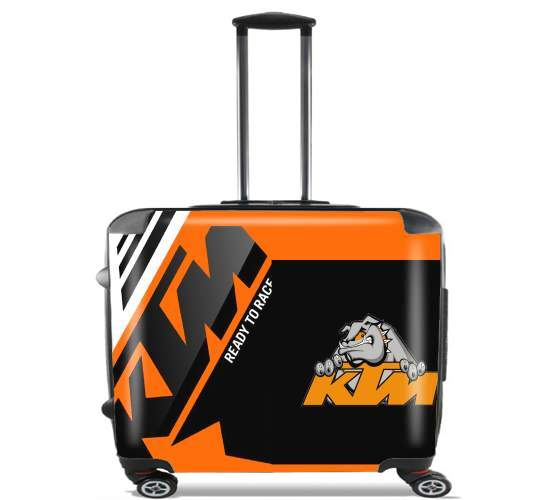 "KTM Racing Orange And Black for Wheeled bag cabin luggage suitcase trolley 17"" laptop"