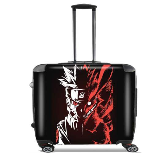 """Kyubi x Naruto Angry for Wheeled bag cabin luggage suitcase trolley 17"""" laptop"""