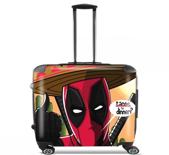 """Mexican Deadpool für Rollentasche Handgepäck Koffer Trolley 17"""" laptop"""