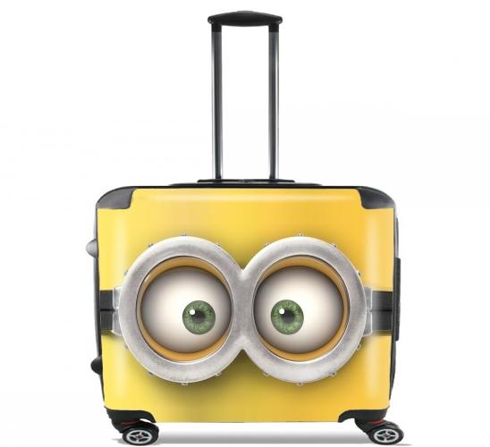 """minion für Rollentasche Handgepäck Koffer Trolley 17"""" laptop"""