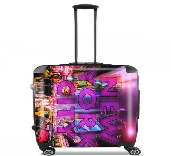valise new york city broadway couleur rose ordinateur roulettes bagage cabine personnalis e. Black Bedroom Furniture Sets. Home Design Ideas