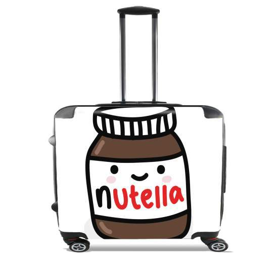 "Nutella for Wheeled bag cabin luggage suitcase trolley 17"" laptop"