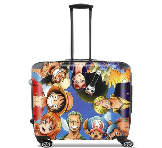 "One Piece CREW for Wheeled bag cabin luggage suitcase trolley 17"" laptop"