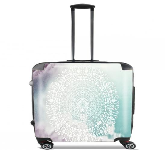"""RAINBOW CHIC MANDALA für Rollentasche Handgepäck Koffer Trolley 17"""" laptop"""