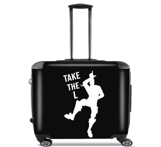 "Take The L Fortnite Celebration Griezmann for Wheeled bag cabin luggage suitcase trolley 17"" laptop"