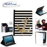 Étui Universel Tablette 7 pouces pour gold glitter anchor in black