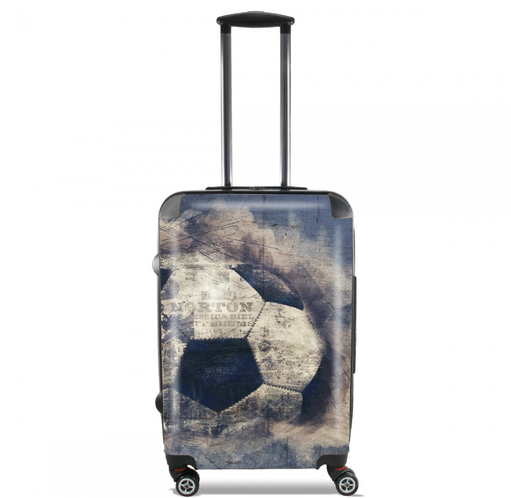 Abstract Blue Grunge Football for Lightweight Hand Luggage Bag - Cabin Baggage