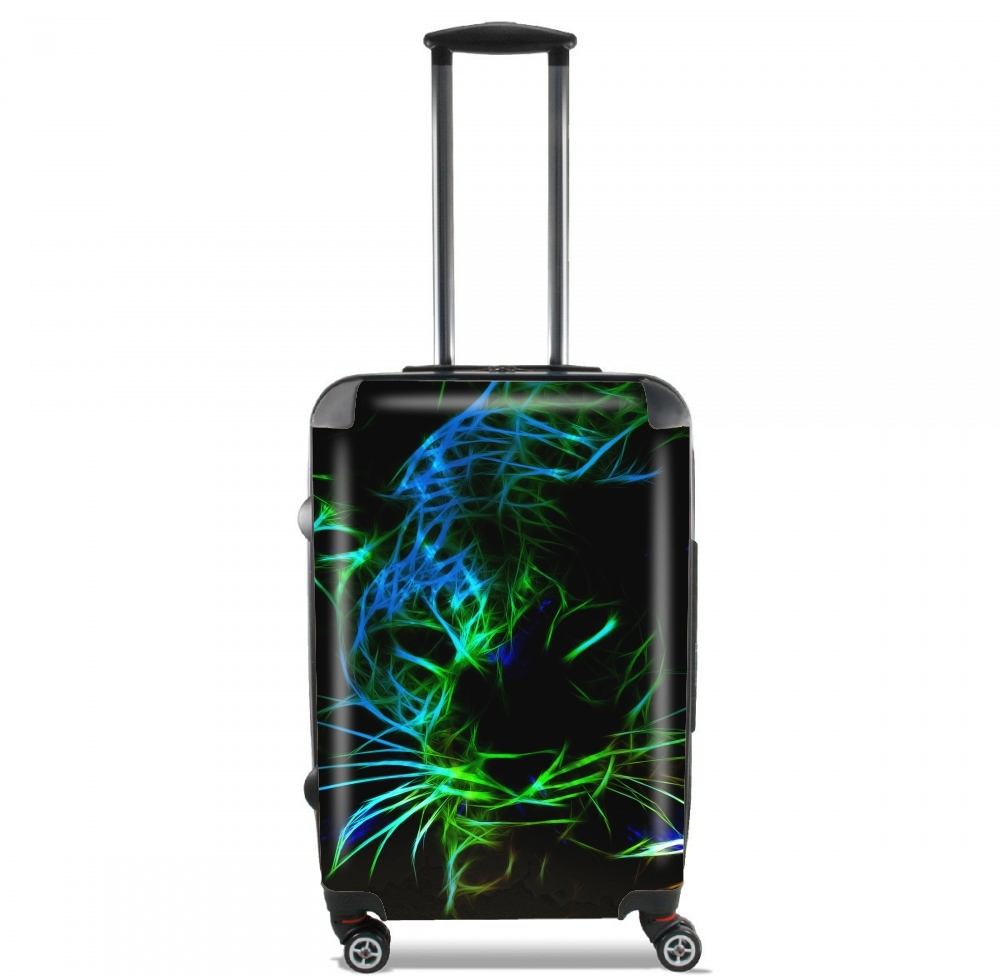 Abstract neon Leopard voor Handbagage koffers